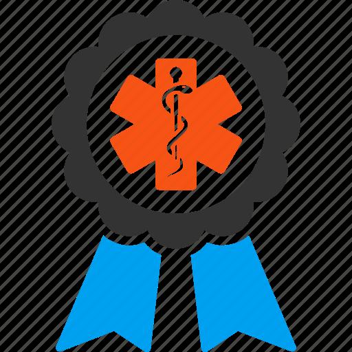 badge, doctor reward, healthcare, medical award, medicine, prize, trophy icon