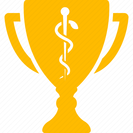 doctor, gold cup, healthcare reward, hospital winner, medical award, medicine, success icon