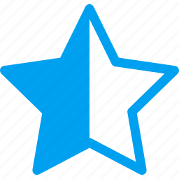half star, mark, rank, rate, rating, star, vote icon