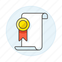 badge, certificate, college, course, diploma, graduation, honor, medal, rewards
