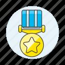 badge, circle, coin, gold, medal, rewards, star
