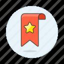 flag, pennant, rewards, star icon