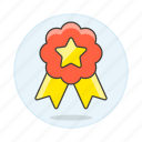 star, ribbon, rewards, coin, badge, winner