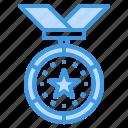 medal, champion, reward, badge, award