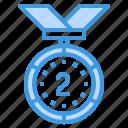 medal, reward, badge, award, silver