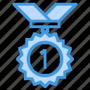 medal, reward, gold, badge, award