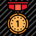 medal, reward, badge, award, first
