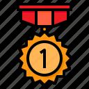 medal, reward, badge, award, gold