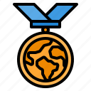 medal, reward, badge, award, world