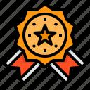 medal, reward, badge, champion, star