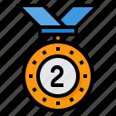 medal, reward, badge, silver, award