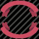 circle, ribbons, banners, circular