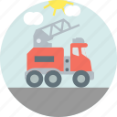 construction, crane, jacklift, tow icon