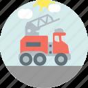construction, crane, jacklift, tow
