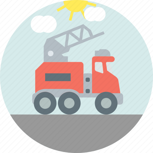 construction, crane, jacklift, tow icon