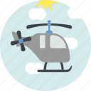 fly, helicopter, transport, vehicle icon