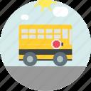 autobus, bus, school, transport icon