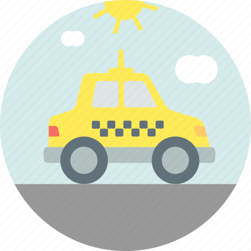 cab, ride, taxi, transport icon