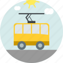 tram, tramway, transport, travel icon