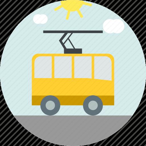 Tram, tramway, transport, travel icon - Download on Iconfinder