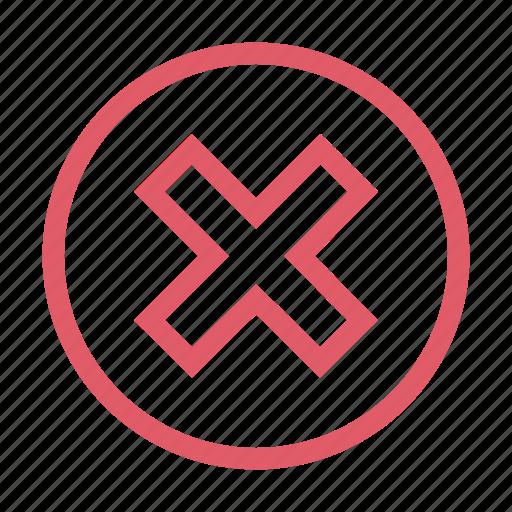 cancel, close, delete, remove, stop, trash, wrong icon