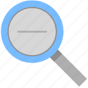 lens, minus, photo, reduce, zoom icon