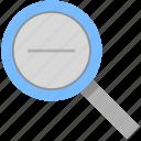 lens, reduce, minus, photo, zoom icon