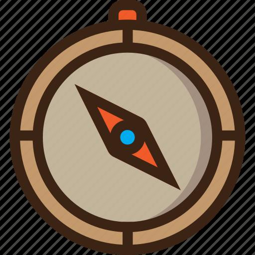 compass, direction, guide, navigation, safari, tourism, travel icon