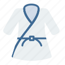 arts, fight, judo, martial, olympics, sports, uniform icon