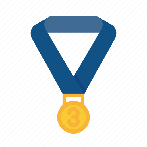 award, medal, position, reward, third, winner icon