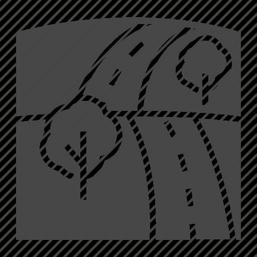 field, road icon
