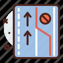1way, distance, forbidden, transport, travel icon
