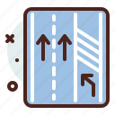3way, distance, transport, travel icon