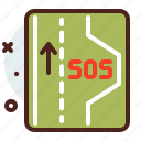 distance, sos, transport, travel icon