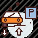 border, distance, parking, transport, travel icon