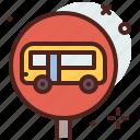 bus, distance, transport, travel icon