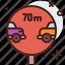 distance, transport, travel icon