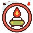 distance, fire, transport, travel icon