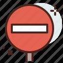 distance, interdiction, transport, travel icon