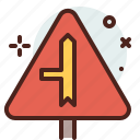 distance, intersection, left, transport, travel icon