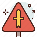 distance, intersection, right, transport, travel icon