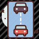 distance, keep, transport, travel icon