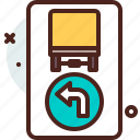 direction, distance, left, transport, travel icon