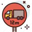 distance, lenght, transport, travel icon