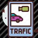 distance, monitor, traffic, transport, travel icon