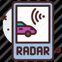 distance, radar, transport, travel icon