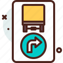 direction, distance, right, transport, travel icon