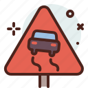 distance, slippery, transport, travel icon