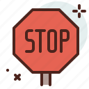 distance, stop, transport, travel icon