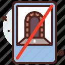 distance, interdiction, transport, travel, tunnel icon